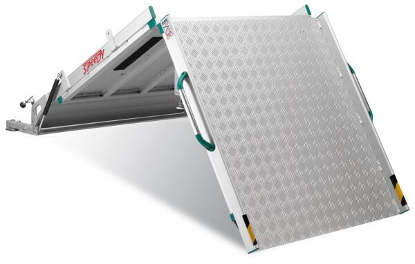 Standard Folding Van Ramp (3000mm long, 1000mm wide, 1615mm folded height, 600kg capacity) PLEASE USE THE SAFETY BELT