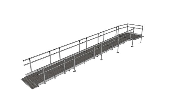 8400mm modular ramp fully assembled