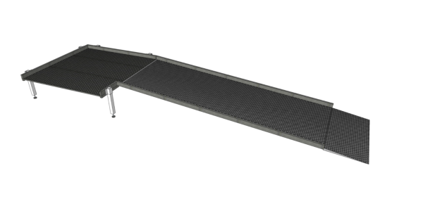 2500mm long modular ramp system without handrails