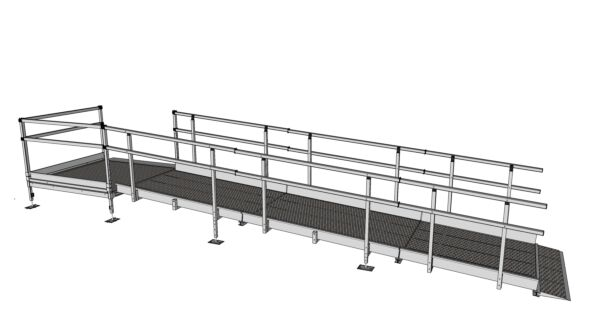 5200mm assembled modular ramp