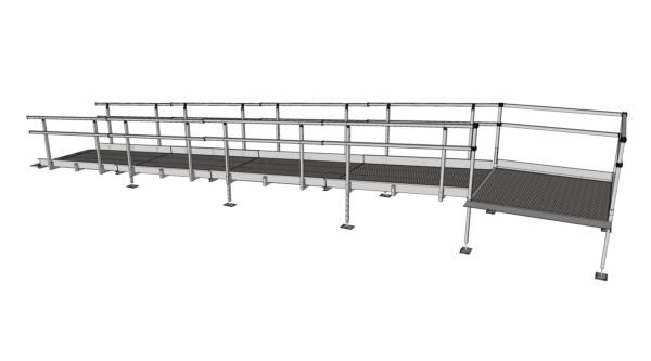 Fully assembled 7200 modular ramp system