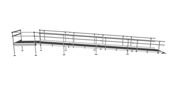 Modular Kit with Platform and Double Height Handrails (1100mm x 9200mm long)