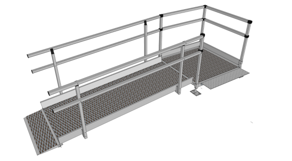 1500mm wide 2310mm long modular ramp