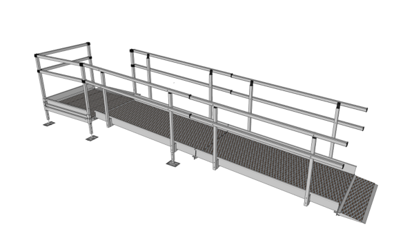 3800mm modular ramp system with handrails