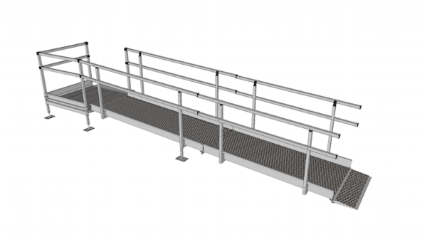 Modular Kit with Platform and Double Height Handrails (1100mm x6000mm long)