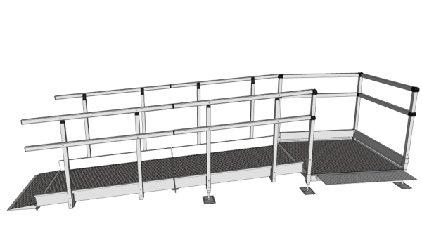 Modular Kit with Platform and Double Height Handrails (1500mm x 2700mm long)