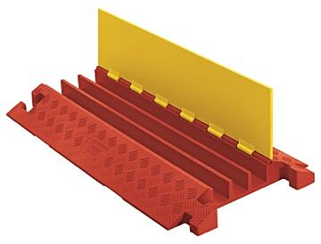 Checkers Line Backer - 3 Channel Cable Protector Orange/Yellow