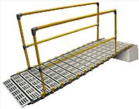 Double Sided Roll A Ramp Handrail For 15ft Ramp