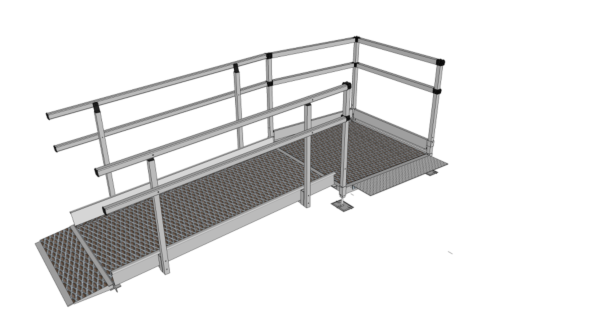 Fully assembled modular wheelchair ramp
