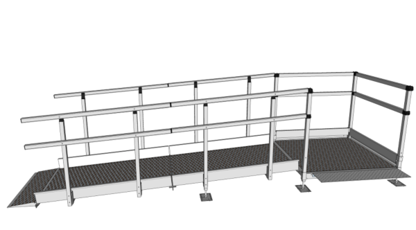 Modular wheelchair ramp 2700mm long