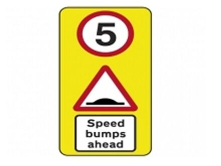 5mph Speed Bump Warning Sign