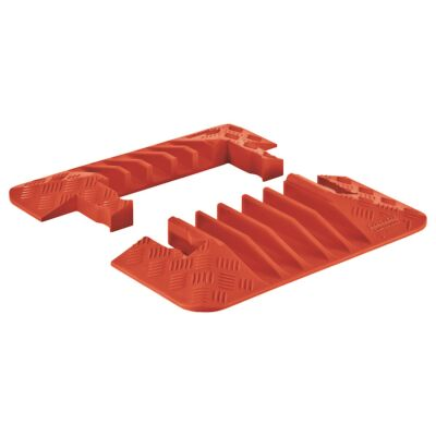 Checkers Guard Dog - 5 Channel Cable Protector Orange End Caps Pair