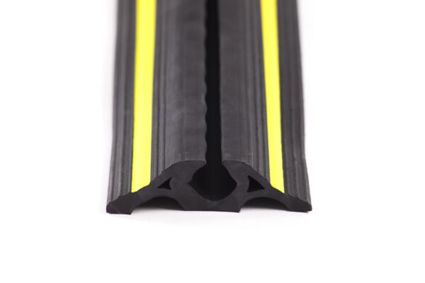 1 channel black and yellow cable protector