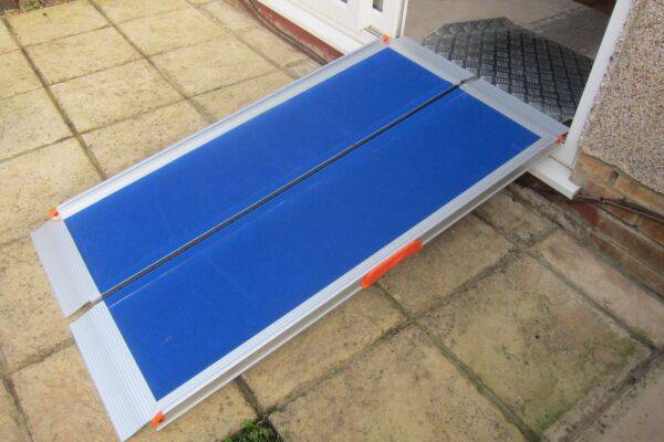 Premium wheelchair ramp and threshold ramp on threshold