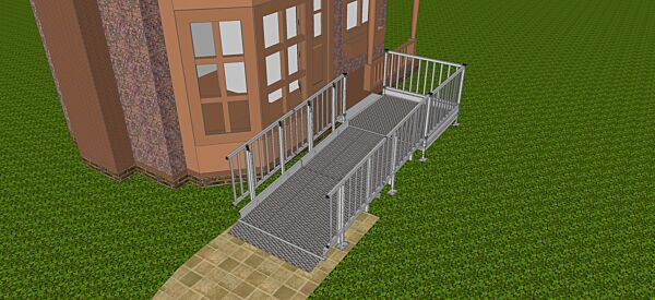 2700mm long modular ramp