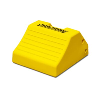 Single Checkers yellow wheel chock