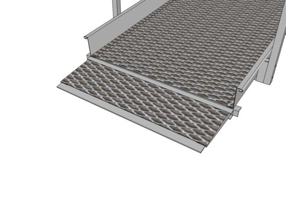 Connecting plate for modular ramps