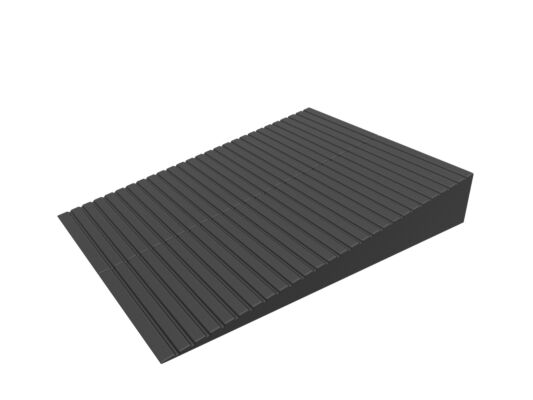 "Container Rubber Ramps from 4.5"" to 7"" High - 400mm wide"