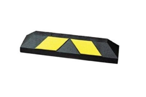 550mm Wheel stop black and yellow