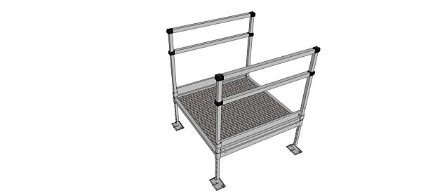 Platform kit for modular wheelchair ramps