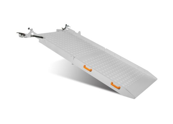 Folding van ramp unfolded