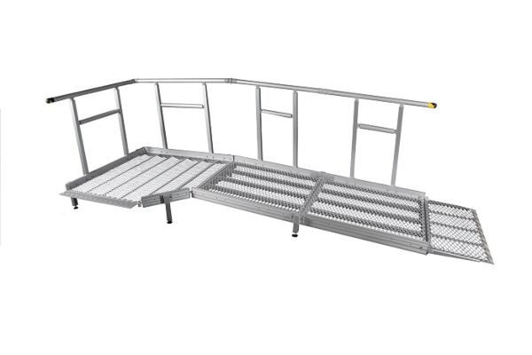 Technical drawing of 1000mm modular ramp